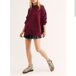 NWT Free People Easy Street Tunic Oversize Sweater